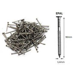 34/90 ömlesztett-gyűrűs szeg EPAL (25kg)