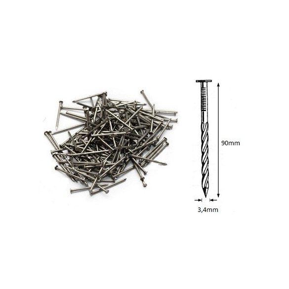 34/90 ömlesztett-csavart szeg (25kg)