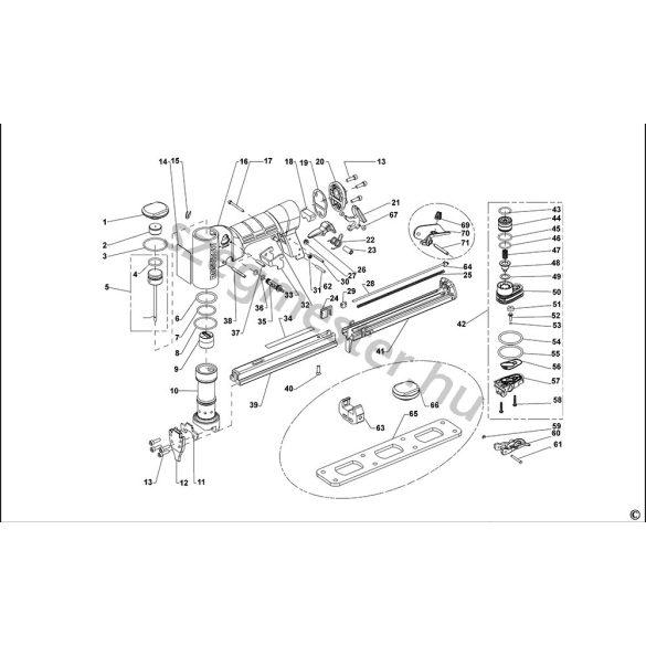 Bostitch 21697B-E kapcsozó alkatrészei