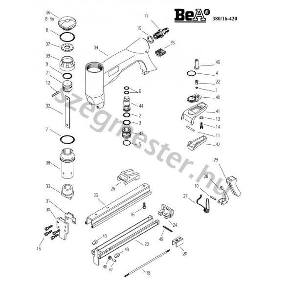 BeA 380/16-420 kapcsozó alkatrészei