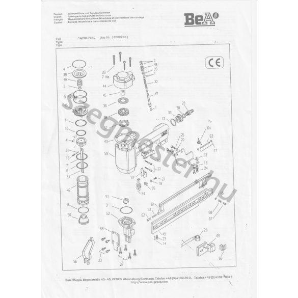 BeA 14/50-764 kapcsozó alkatrészei