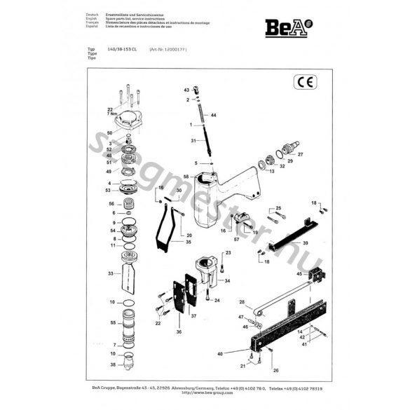 BeA 140/38-153 kapcsozó alkatrészei
