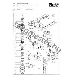 BeA 564 DC szegező alkatrészei