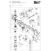BeA 570 DC szegező alkatrészei