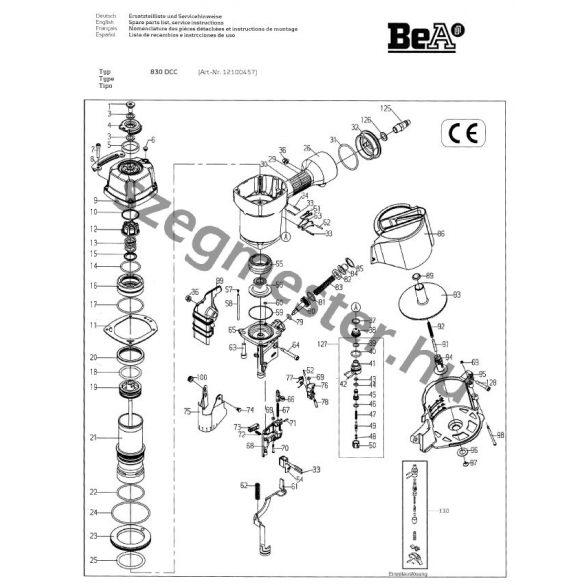 BeA 830 DC szegező alkatrészei