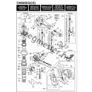 MAX CN565S2 szegező alkatrészei