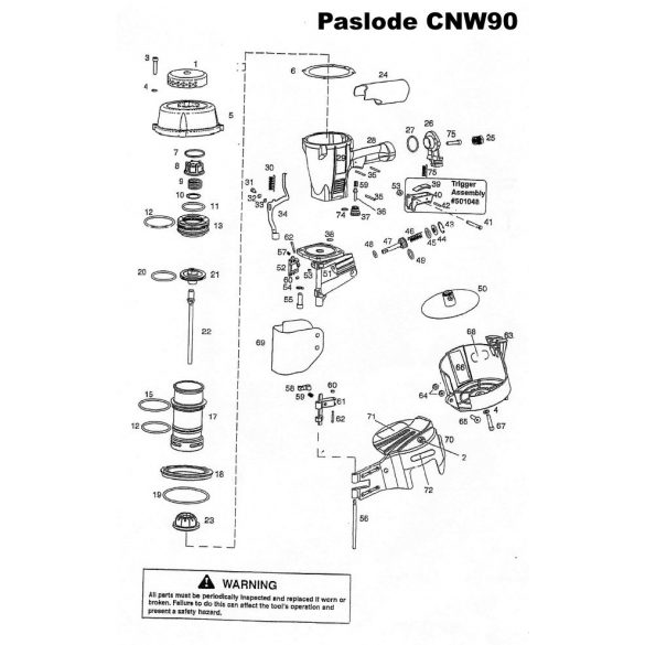 Paslode CNW90 alkatrészei