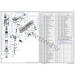 EVERWIN FSN130 szegező alkatrészei