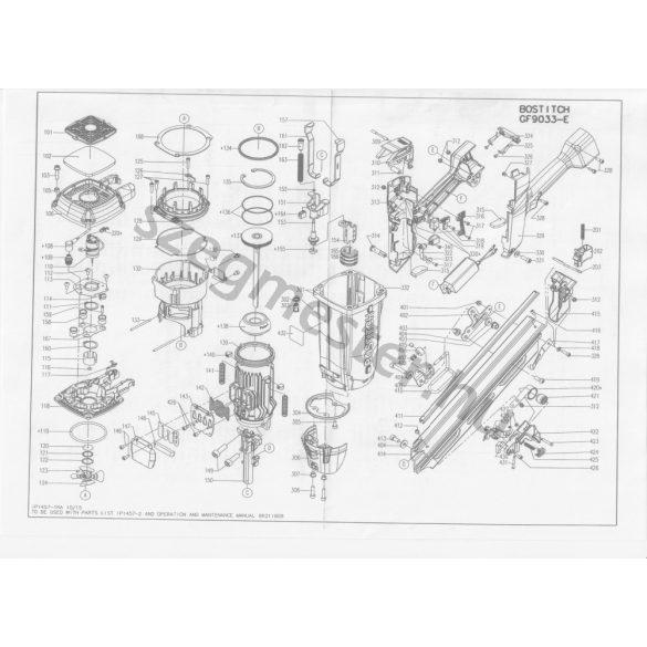 Bostitch GF9033-E szegező alkatrészei