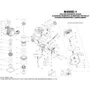 Bostitch N400C-1-E szegező alkatrészei