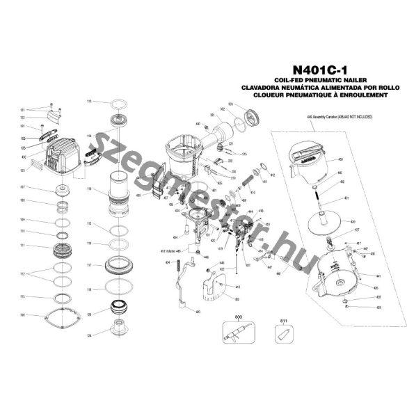 Bostitch N401 EPAL szegező alkatrészei