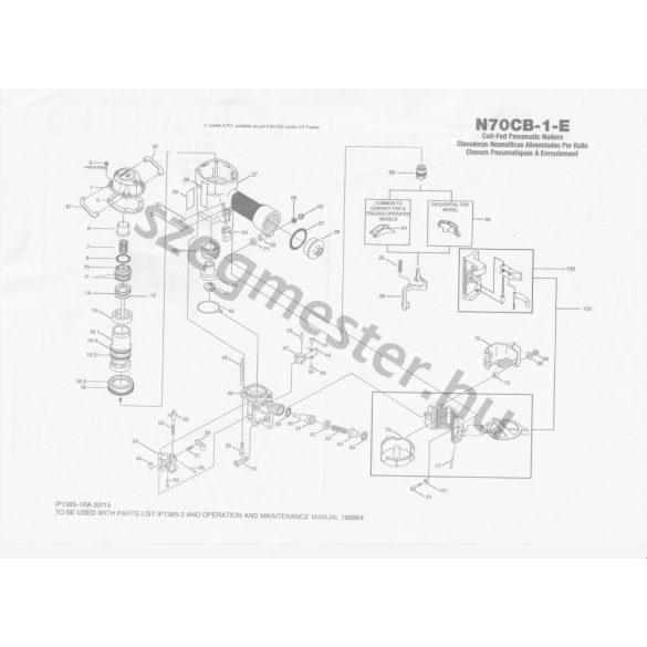 Bostitch N70-CB-1-E szegező alkatrészei