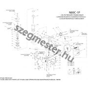 Bostitch N89C-1P-E szegező alkatrészei