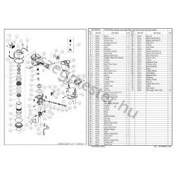 EVERWIN PN100 EPAL szegező alkatrészei