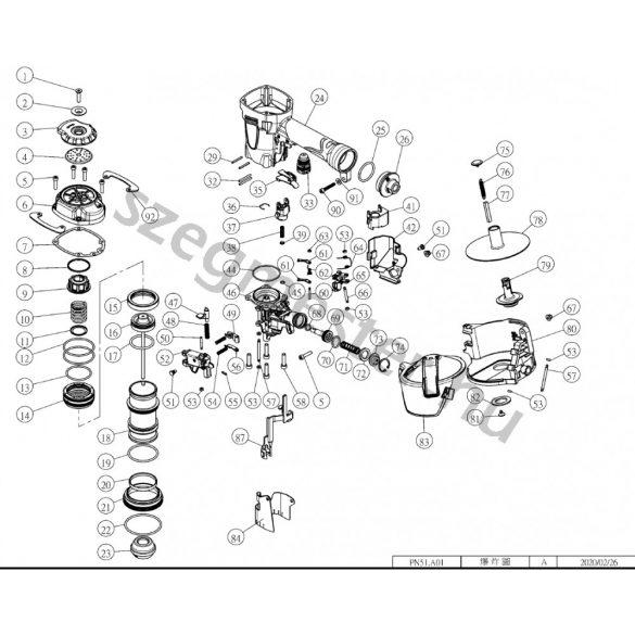 EVERWIN PN51 szegező alkatrészei