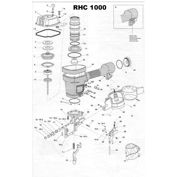 Atro RHC1000 szegező alkatrészei