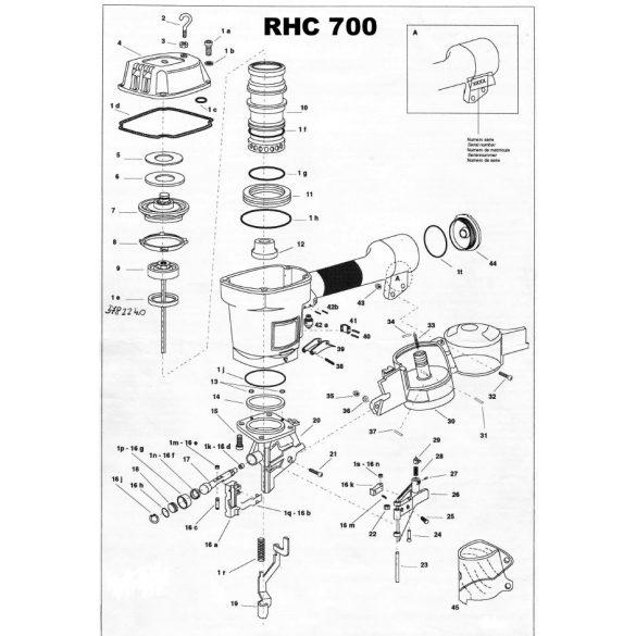 Atro RHC700 szegező alkatrészei