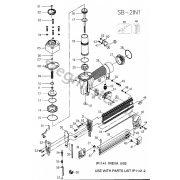 Bostitch SB-2IN1 SX szegező alkatrészei