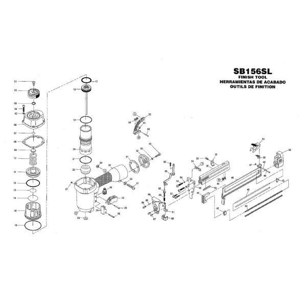 Bostitch SB156SL-1-E kapcsozó alkatrészei