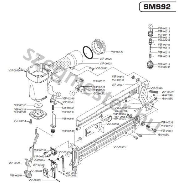 SENCO SMS92 kapcsozó alkatrészei