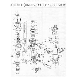 Unicatch UNC325 szegező alkatrészei