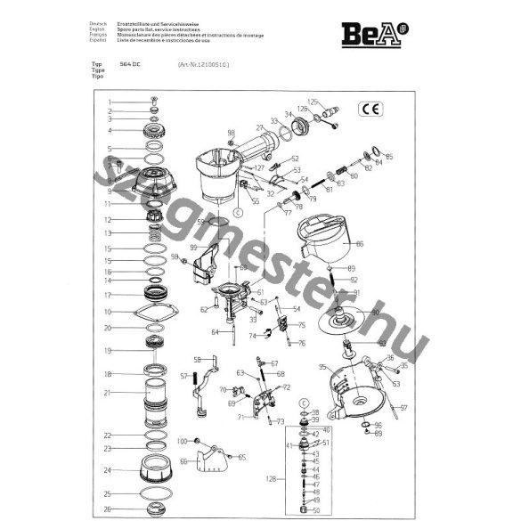 BeA 564 DC szegező