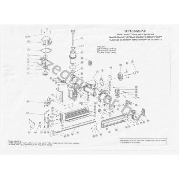 Bostitch BT1855SP-E Ti-Pin szegező