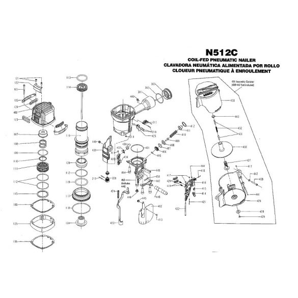 Bostitch N512 szegező