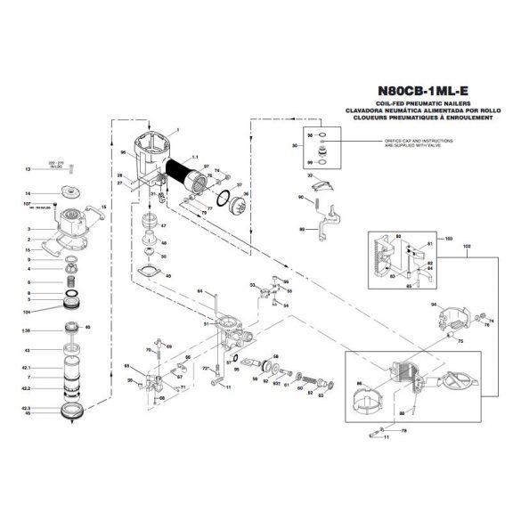 Bostitch N80CB-1ML-E szegező