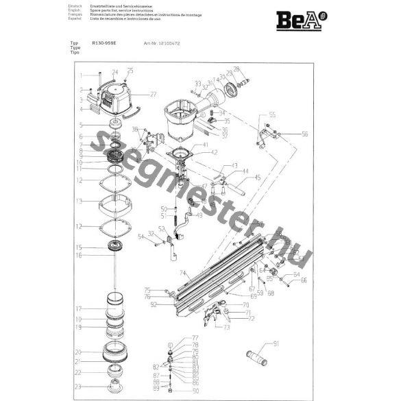 BeA R130-959E síktáras szegező (21°)