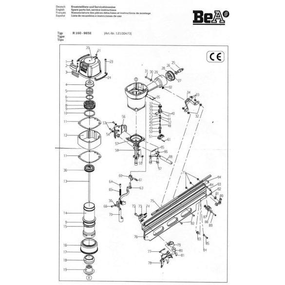 BeA R160-965E síktáras szegező (21°)