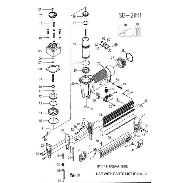 Bostitch SB-2IN1 kapcsozó & Ti-Pin szegező