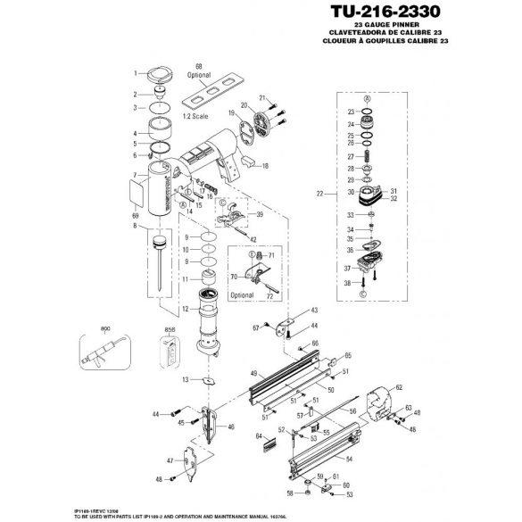 Bostitch TU-216-2330K-E Mini pin szegező