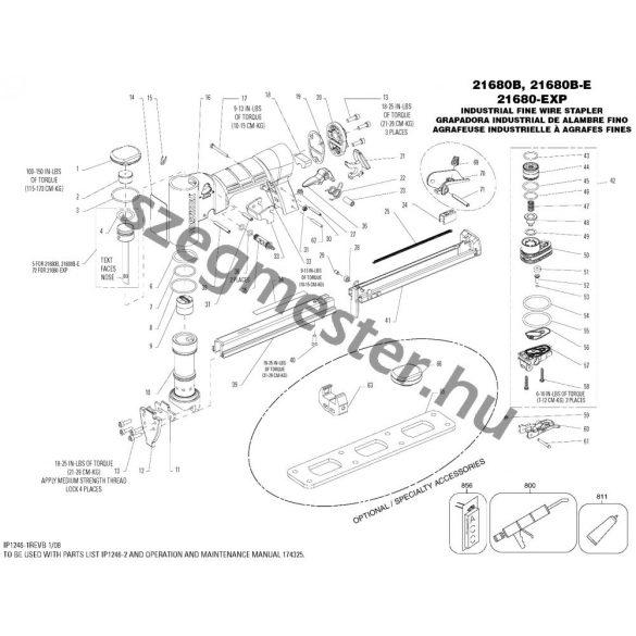 Bostitch 21680B-E kárpitos kapcsozó