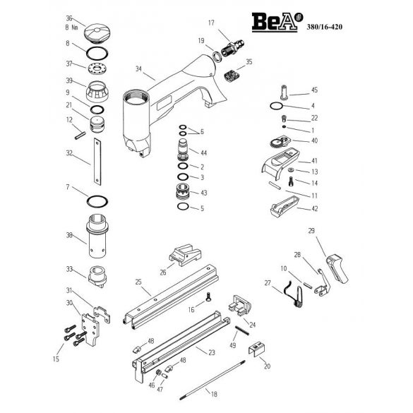 BeA 380/16-420 kárpitos kapcsozó