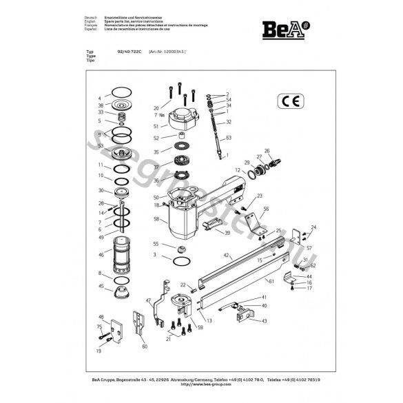 BeA 92/40-722 kapcsozó
