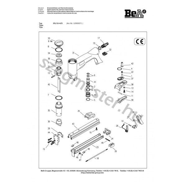 BeA 95/16-425 kárpitos kapcsozó