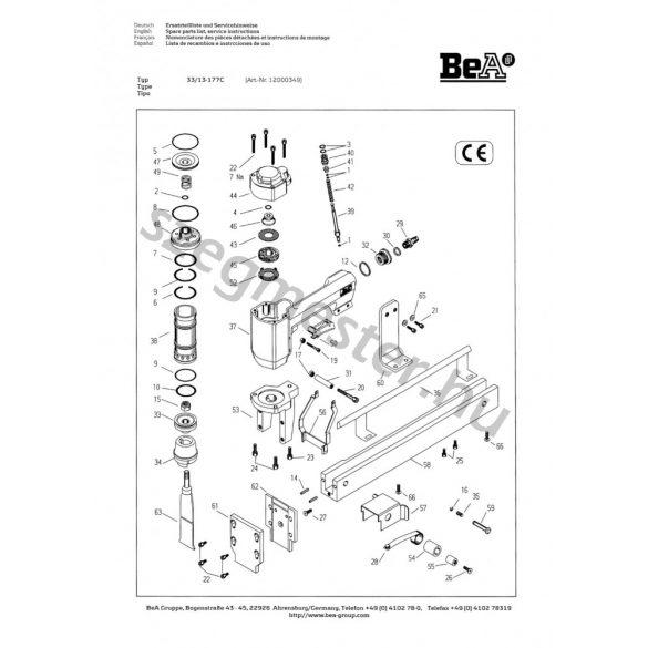 BeA EPAL/EUR raklap jelölő 33/13-177
