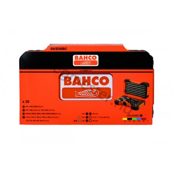 BAHCO bitkészlet 35 részes, színes (59/S35BC)