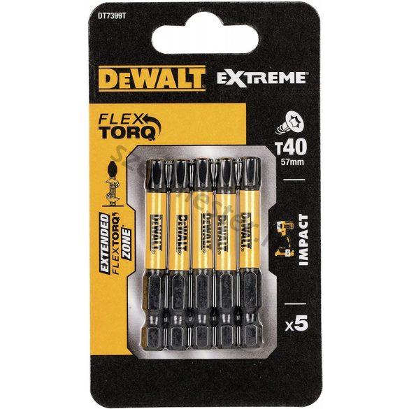 DeWalt bitfej TX40 torziós 50mm (5 db)
